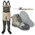 Ropa de pesca con mosca y zapatos Aqua Sneakers Wading Clothing Set transpirable Rock 12 uñas fieltro suela botas Wader pantalones FXMD1