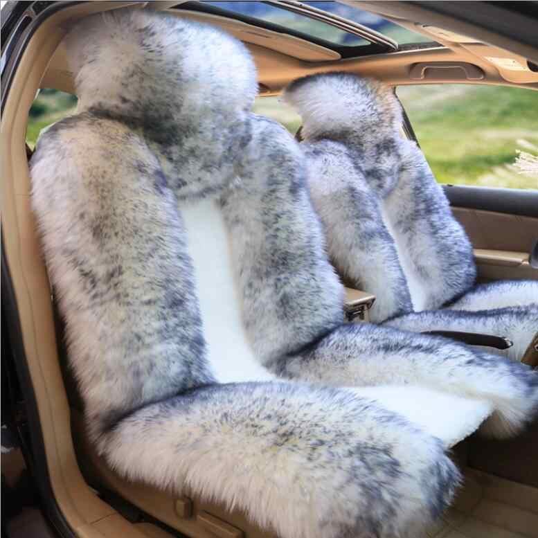 Premium Quality Australian Sheep Skin Car Long Wool Front Seat Cover Cushion