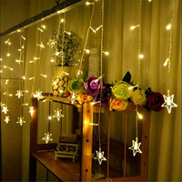 In Stock Led String Light 3 5M 96 Led Curtain Icicle String Led Lights New Year