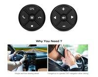 Серебристые 2 DIN рулевого колеса автомобиля Управление Беспроводной DVD GPS навигации музыка кнопку Портативный Дистанционное управление и пу...