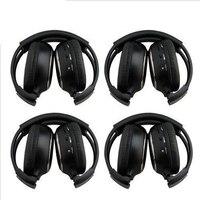 Top Deals HQ 4PCS IR Wireless Headphones Headsets Earphone for Car DVD Player L Flip Down&Headrest