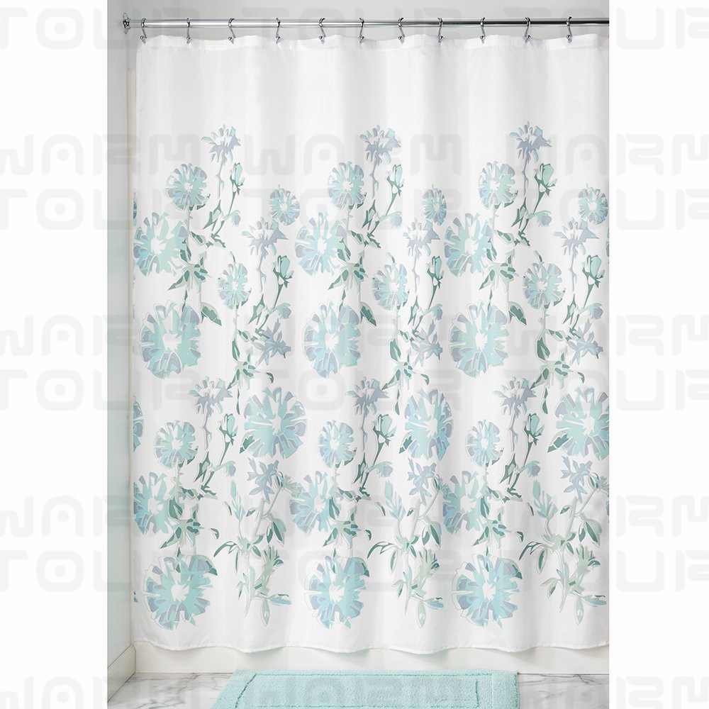 Mustache shower curtain - Warm Tour Botanical Leaf American Style Shower Curtain Waterproof Polyester Bath Curtain Hospital Hotel With