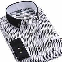 Free Shipping 2014 New Men S Shirts Long Sleeve Casual Printed Shirt For Man Autumn Dress