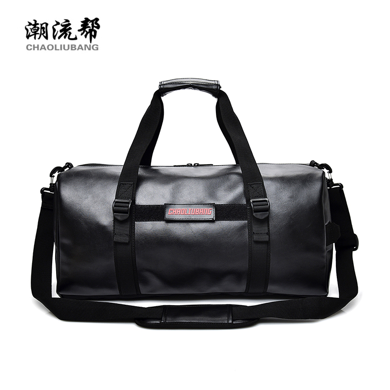 Brand of high quality large capacity travel bag for men Pure color joker unisex handbag Preppy style pu leather cute pillow bag