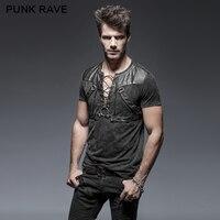 Punk Rave Men S Shirt Gothic Goth Steampunk Rock Heavey Metal Black Top T424