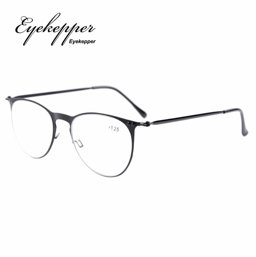 R15019 Eyekepper Leser Retro Edelstahl Rahmen Oval Runde Lesebrille ...