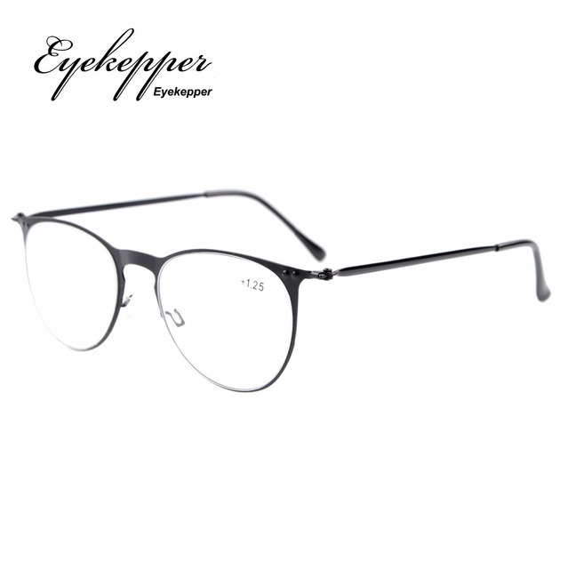 bea4f9ccc2 R15019 Eyekepper Readers Retro Stainless Steel Frame Oval Round Reading  Glasses+0.5 0.75 1 1.25 1.5 1.75 2 2.25 2.5 2.75 3 3.5 4