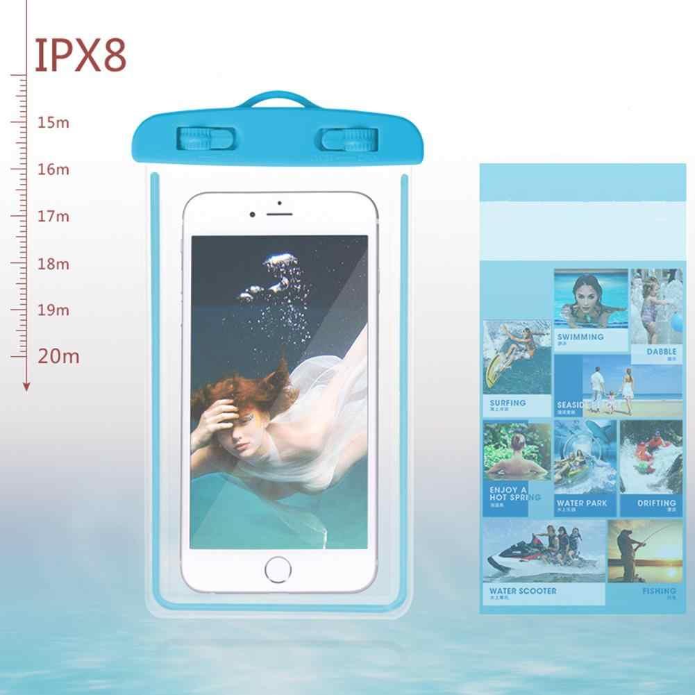 Kuulee Drijvende Airbag Zwemmen Zak Waterdichte Mobiele Telefoon Pouch Cell Phone Case voor Zwemmen Duiken Surfen Strand Gratis Verzending
