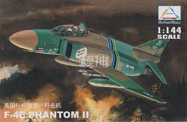 1:144 USA F-4E PHANTOM II Fighter America Air Force Aircraft Military Assembly Aircraft Model 80417