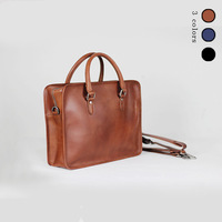 Men Genuine Leather Briefcase Handbags Leather 14 Laptop Bag Big Shoulder Crossbody Bags for Man Messenger Bags With Free Gift