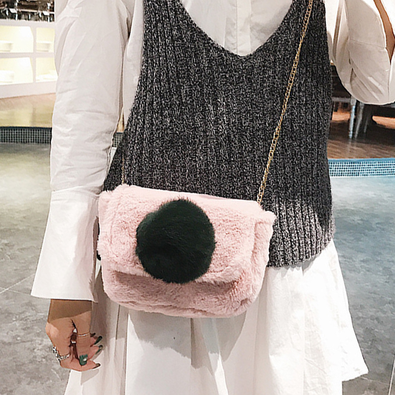Della Calda Cluth Piccolo Di pink A Carino Bag brown Signore Borsa black Uccelli Bag Pink Flap 2017 Chic Volo Tracolla Women Catena Bag Mano Bag A3433 Rosa New Messenger Peluche B Winter OqvxUH