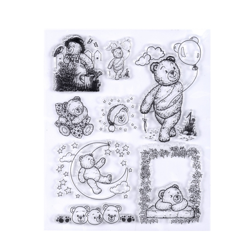 Lovely Cartoon Clear Transparent Stamp DIY Silicone Seals Scrapbooking Card Making Colorful Stamps New