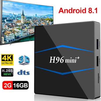 2018 H96MINI + Android 8,1 ТВ Box 2 Гб 16 GB Rockchip RK3229 4 ядра 2,4G  Wi-Fi H 265 4 K HD Google jugador caja inteligente