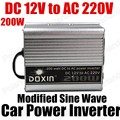 Conversor de Potência do carro Inversor Carregador USB 200 W DC 12 V para AC 220 V Transformador de Tensão Portátil modificado sine onda