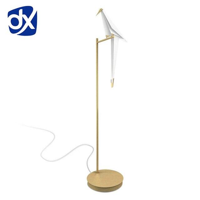 Hot Origami Bird Floor Lamp Nordic Creative Design Post Modern Light H158cm W40cm White And