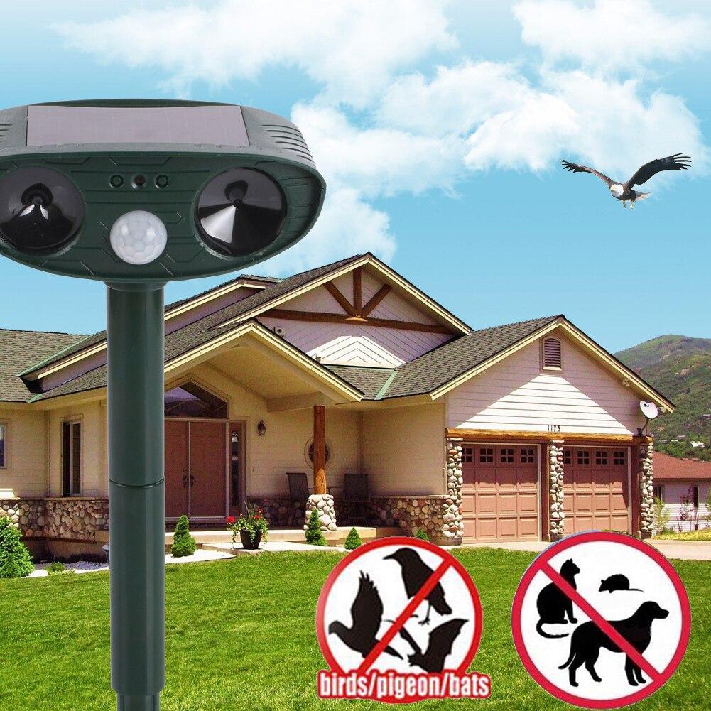 Ultrasonic Dog Repeller Animal Dog Chaser Solar Power Deterrent Animal Scarer Dog Repellent PIR Motion Detector Garden Supplies
