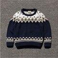 85542 atacado 2015 novos garotos camisolas Dobby meninos geométricas Pullovers malhas Sweatercoats algodão criança lotes de roupas
