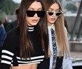 2017 Mulheres de Grandes Dimensões óculos de Sol Armação de Metal Quadrado Marca de Luxo Designer Mulheres Espelho óculos de Sol Dos Homens UV400 Big Quadro Shades
