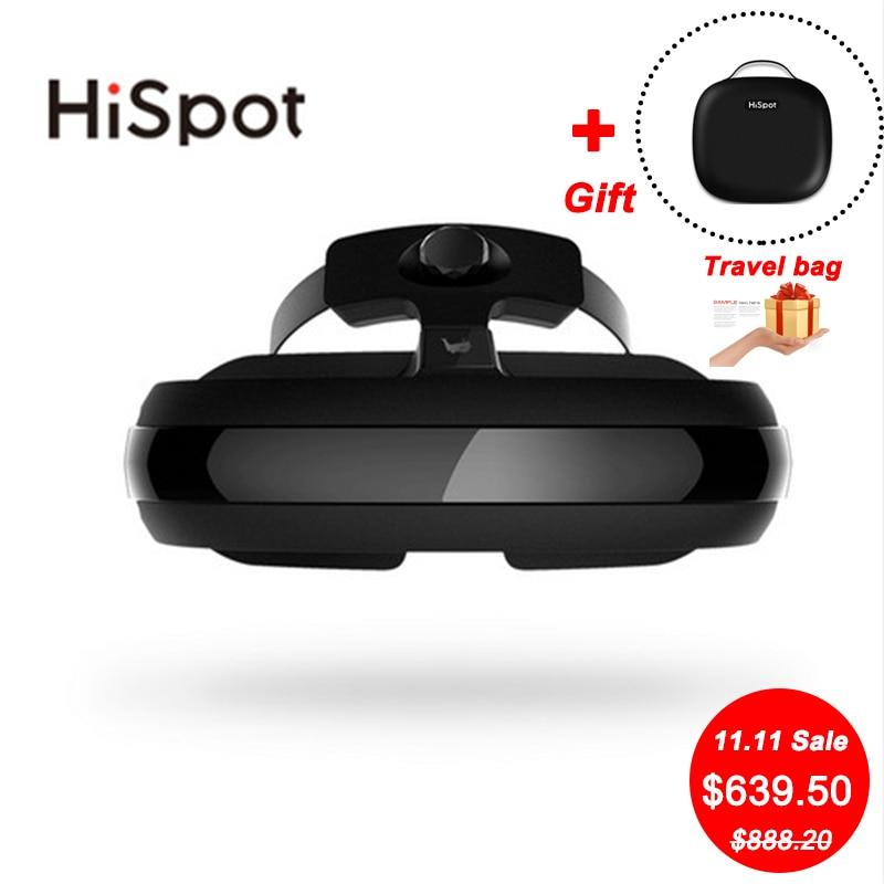 HiSpot H2 3D VR Lunettes Tout en Un 4 k IMAX Vidéo Lunettes BOÎTE VR Films Film 800 OLED écran Smart Lunettes de Réalité Virtuelle TVBOX