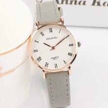 Ocio de cuero Vintage par de relojes de moda personalidad tendencia reloj  de pulsera de hombres las mujeres Roma Simple elegante. 86b3c07dc644