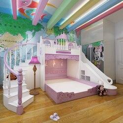 Детская кровать, принцесса замок кровать, принцесса мебель набор