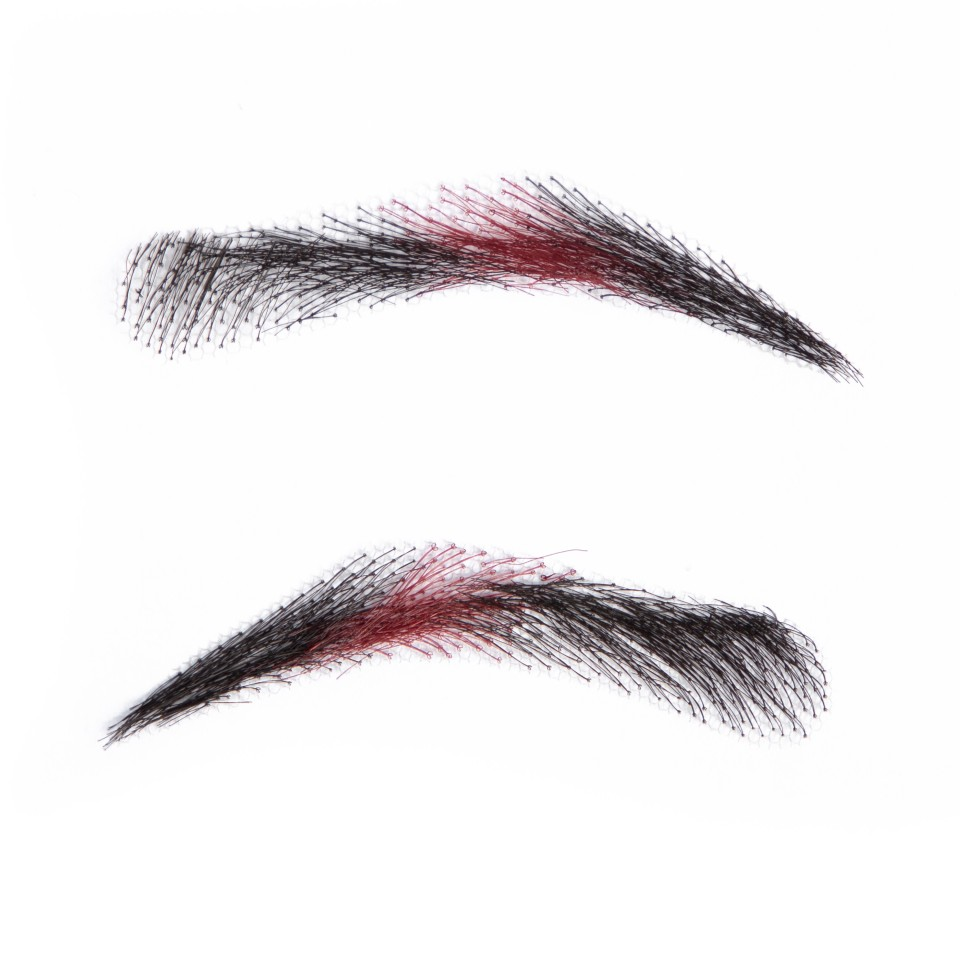 Rihanna Style Henna Eyebrows 1 Pair Black Color Fake Eyebrow For Women/human Hair Eyebrow/adult Eyebrow Available In Various Designs And Specifications For Your Selection Beauty & Health