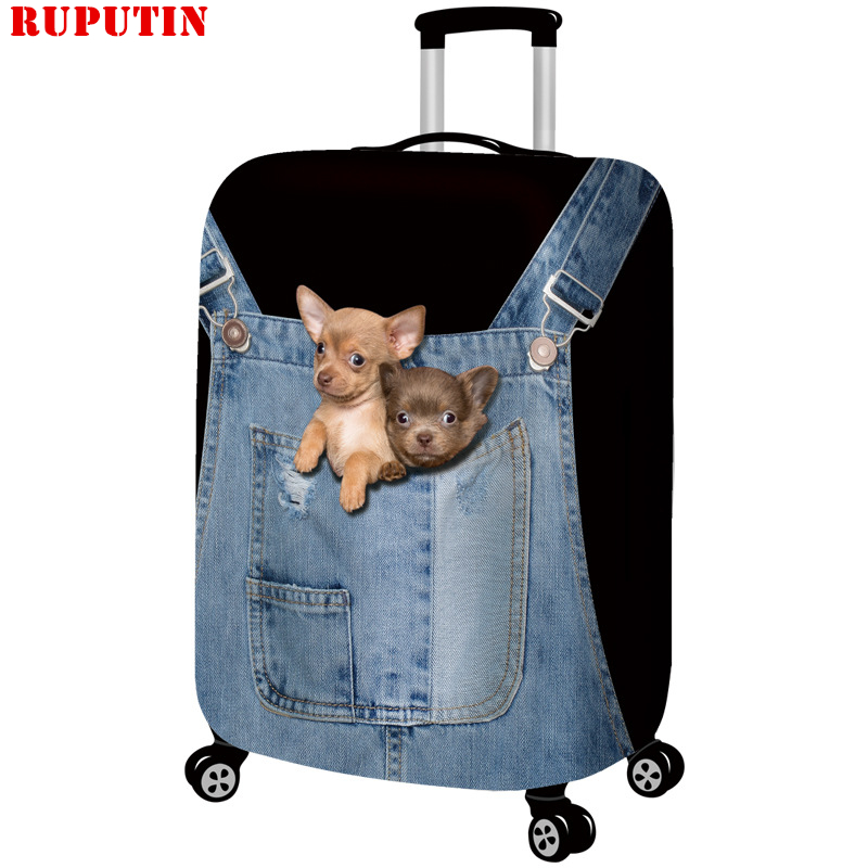 RUPUTIN New Suitcase Elastic Dust Cover Luggage Case For 18~30 Inch Password Box Trolley Case High Quality Cat Protective Cover