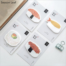 30Pcs Pack Sushi Food Shape Memo Pad Self Adhesive Sticky Notes Post It Bookmark Message note