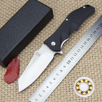 Latest Sales Tactical Folding Knife G10 Handle 9 Cr18mov Steel Blade Outdoor Camping Hunting Survival Knives