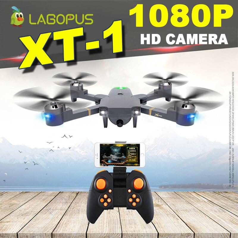 Lagopus XT-1 5MP WIFI FPV Drones con cámara hd Mini Drone 1080 p con gran ángulo LED Quadcopter Drone plegable del E58 XS809HW H37