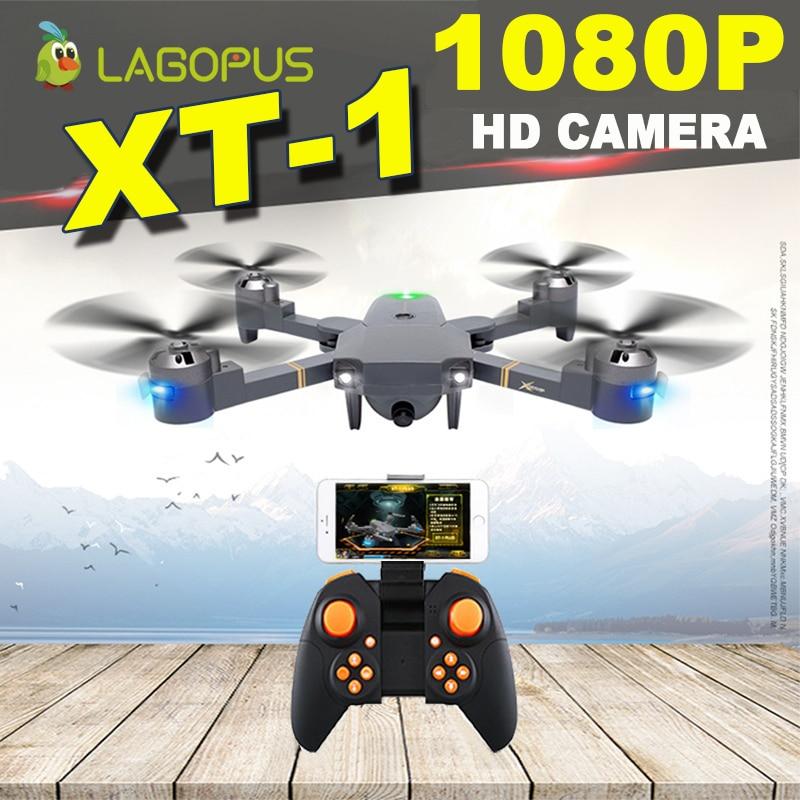 Lagopus XT-1 5MP WIFI FPV Drones avec caméra hd Mini Drone 1080 P avec grand angle LED Drone pliant quadrirotor VS E58 XS809HW H37