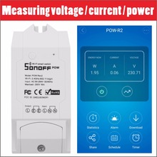 Sonoff Pow R2 16A Wifi Smart Switch Monitor Penggunaan Tenaga Smart Home Power Switch Switches APP Control Works With Alexa 3500W