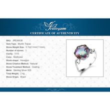 J3.2ct Genuine Rainbow Fire Mystic Topaz Ring Solid 925 Sterling Silver Jewelry Ring Sets Gifts Women New Sale