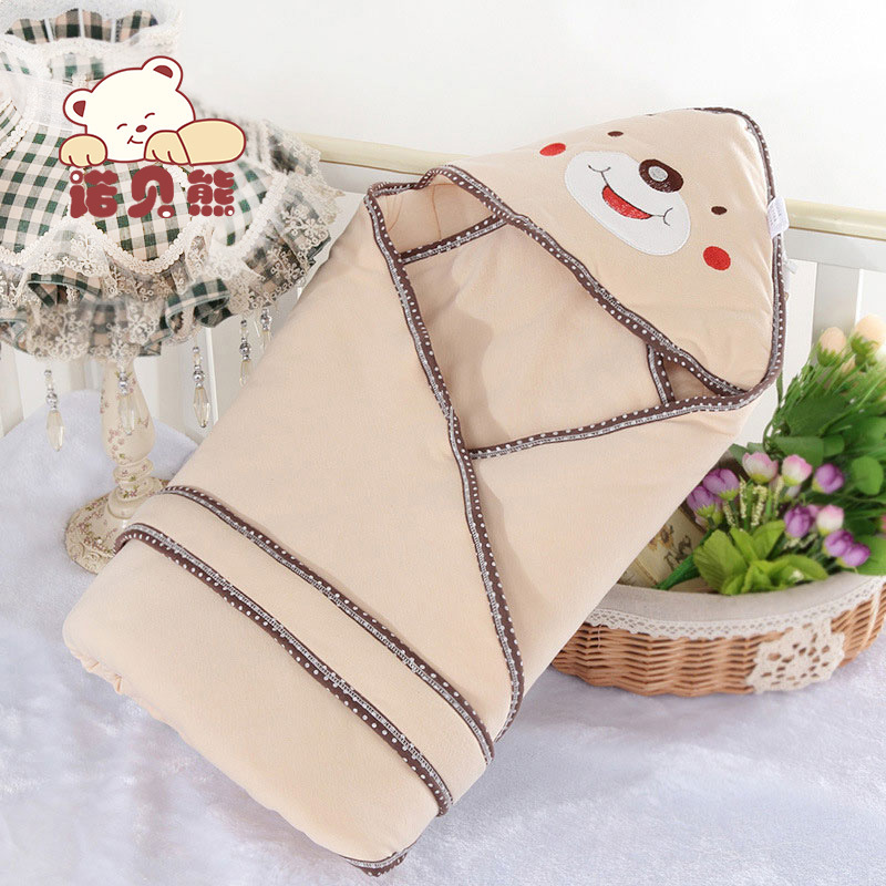 2017 New Arrival Cute Bear Cotton 85*85cm Cartoon Light Coffee Winter Spring Fall Multifunction NewBorn Baby Blanket For Kids aibeile 2017 new 3 colors bear elephant flannel baby blanket newborn soft cartoon blankets 100 100cm for beds thick warm kids