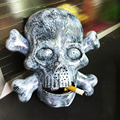 Smoker Skull  prank toys mouth open and close automatically /eerie hoot!