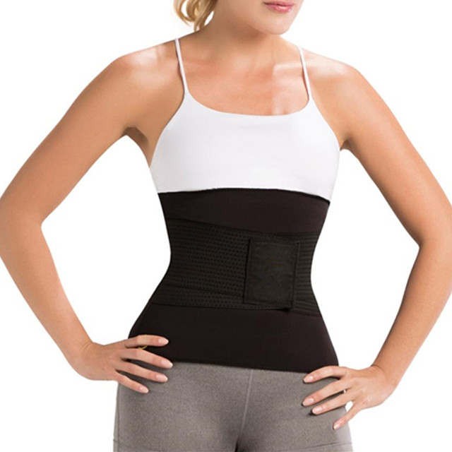 9094acad44b 2018 Sweat Sauna Waist Trainer Slimming Belt Thermo Weight Loss Compression  Belt New Hot Waist Trimmer Body Shapers Slimmer Belt