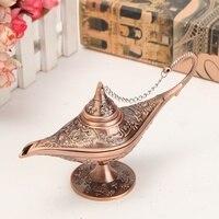 1pc Vintage Wishing Aladdin Lamp Collectable Rare Fairy Tale Magic Lamps Tea Pot Genie Light Home
