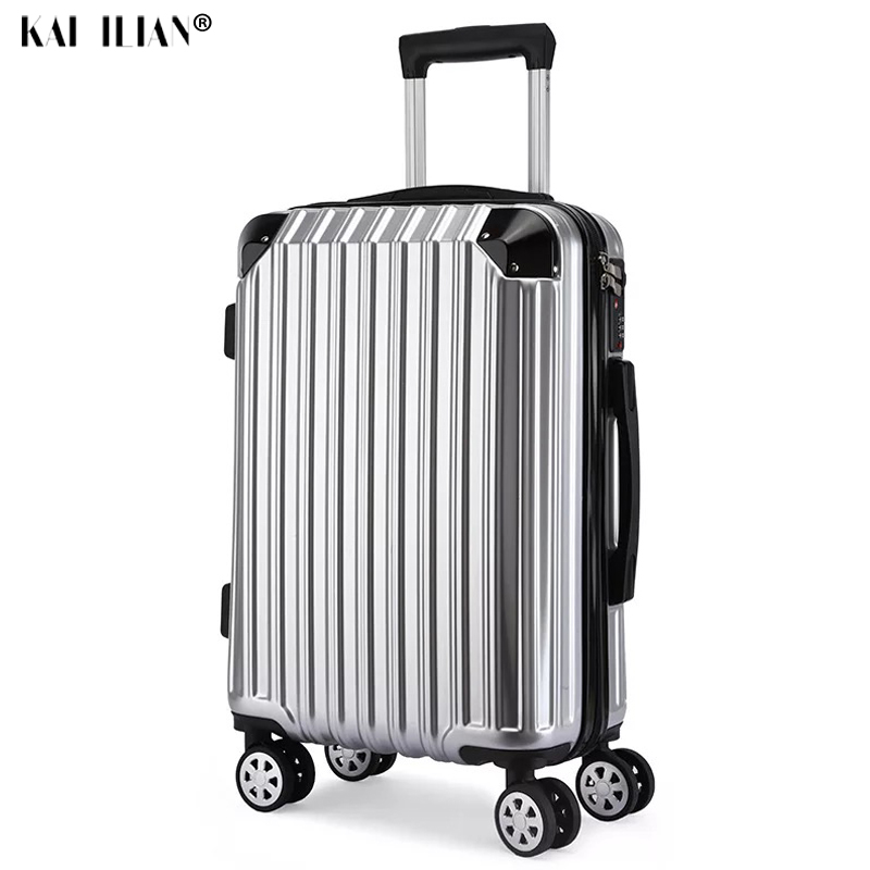 NEW 20/24/26 inch suitcase with wheels Cabin travel roliing luggage carry-ons hardside trolley luggage ABS+PC silver suitacaseNEW 20/24/26 inch suitcase with wheels Cabin travel roliing luggage carry-ons hardside trolley luggage ABS+PC silver suitacase