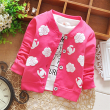 Spring Baby Girls Cardigan Kids Cotton Sweater for Girl Thin Outfits Fashion Print Coat Baby Clothes Autumn Children Clothing