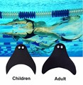 Adult Kids/Children Baby Mermaid Tails Fins Tools Girl Swimmable Monofin Swimming Cosplay Costume Black Fin Flippers