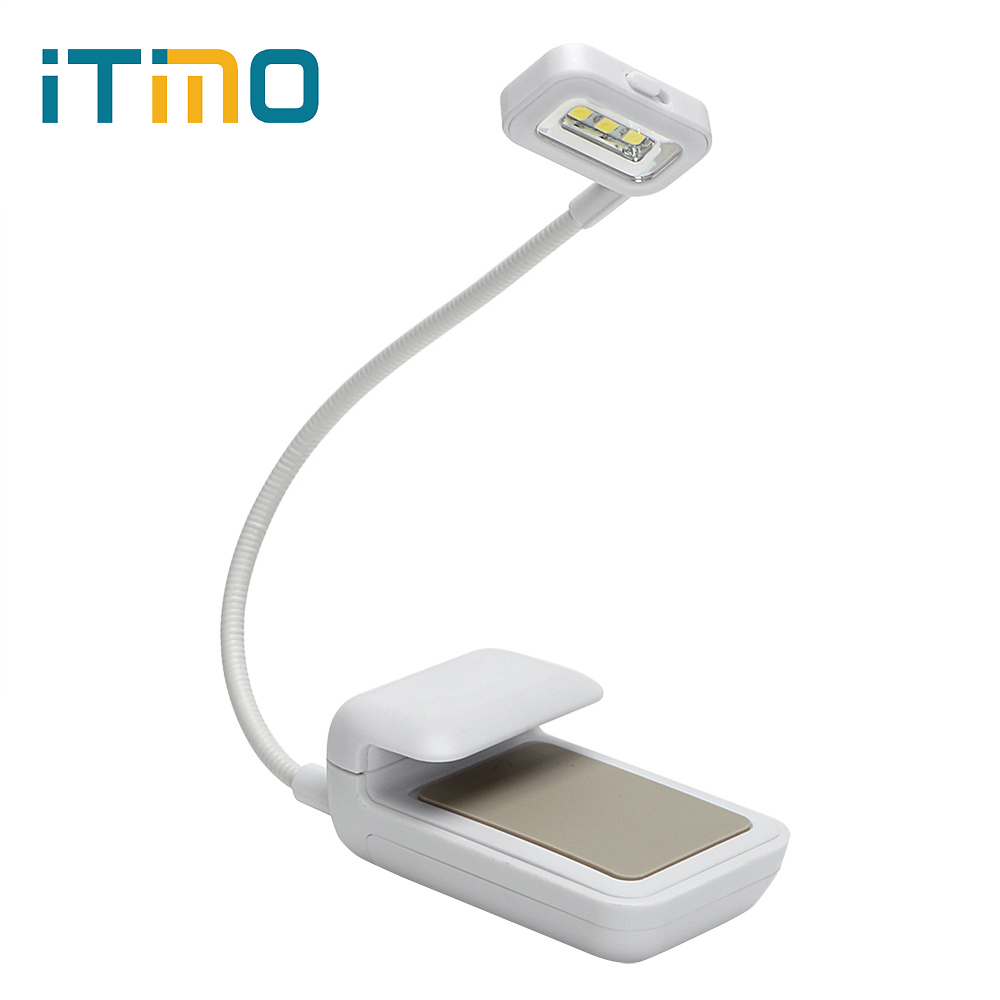 ITimo LED Book Lights AAA Battery Clip on Book Reading Lamp For Reader Kindle eBook Readers