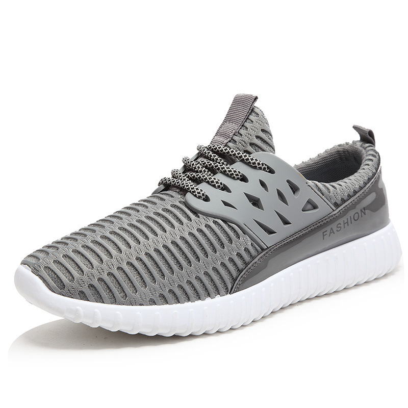 Men shoes summer large size 39-46 breathable mesh shoes lace-up men causal shoes quality footwear flats 10001