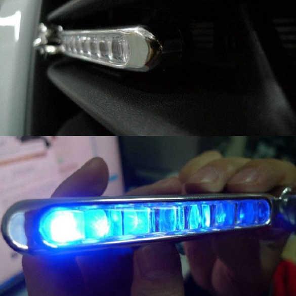 2 قطعة 8-LED الأزرق السيارات سيارة شاحنة الدراجات النارية طاقة الرياح يوم الضباب القيادة ضوء مصباح MAL999