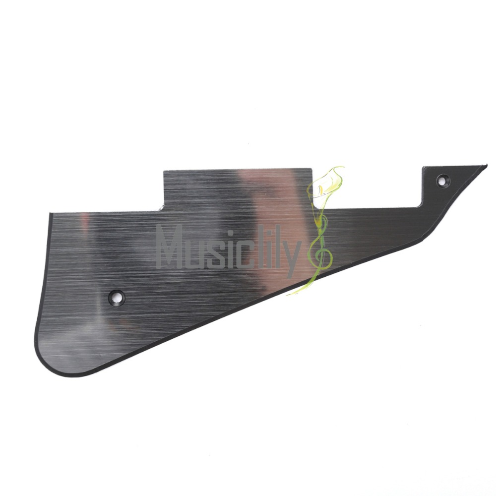 musiclily electric guitar pickguard for gibson les paul modern style guitar parts 2ply aluminum. Black Bedroom Furniture Sets. Home Design Ideas