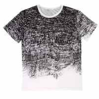 Sommer Männer Mode 3D Graffiti Gedruckt Oansatz Volle Baumwolle T-shirt Shirt Kurzarm Tops für Casual Wear