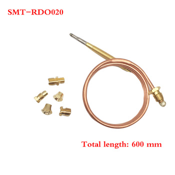 Earth Star 1 Set 600mm Gas Furnace Universal Thermocouple Set M6x0.75 With Five Nut Replacement Thermocouple 10pcs lot m8x1 head length 600mm and nuts 8mm universal thermocouple for gas water heater 600mm