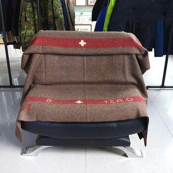 Manta de algodón puro pesado grueso suizo mantas para militares tiro ejército bordado patrón para camas de viaje sofá Picnic tejido sólido