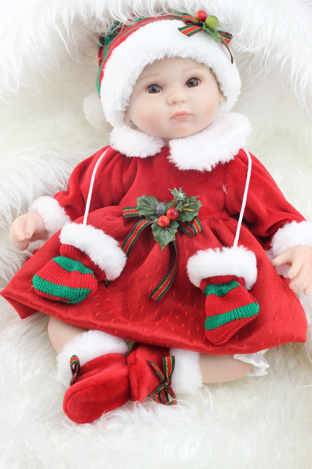 18inches lifelike reborn baby soft silicone vinyl real touch doll lovely newborn baby 17inch Christmas doll or toys good price reborn baby doll kits for 17 baby doll made by soft vinyl real touch 3 4 limbs unpainted blank doll diy reborn doll