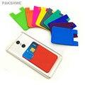 10x tarjeta de silicona case, accesorio del teléfono case/monedero volver pegatina para iphone samsung xiaomi huawei oppo vivo smartphones