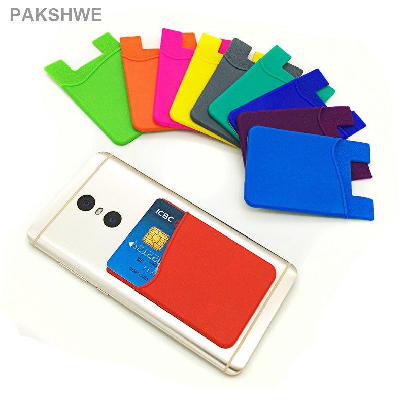 Цена за 10x силиконовый чехол карты телефон аксессуар для хранения портмоне 3 м клеи назад наклейка для iPhone 6 S всех смартфонов Универсальный